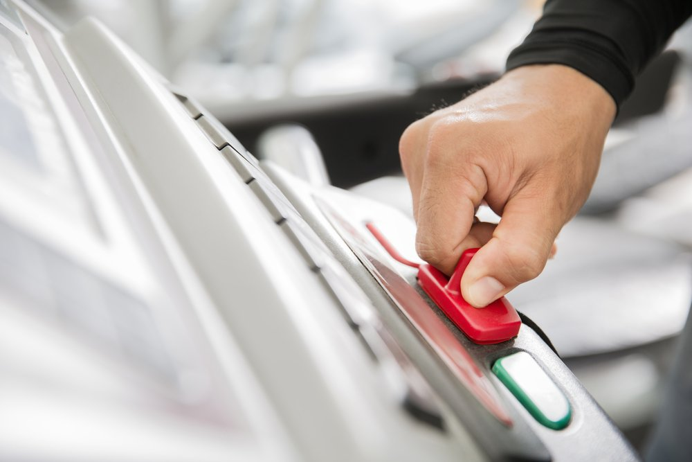 Treadmill Safety Key Being Pulled