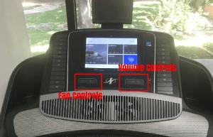 2450 Treadmill Fan and Volume Controls