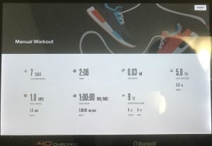2450 Data Display For Workout Summary