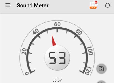 F80 Treadmill sound, 53 db baseline sound