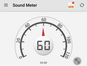 The Noise Level Is 60 db When Going 1 MPH
