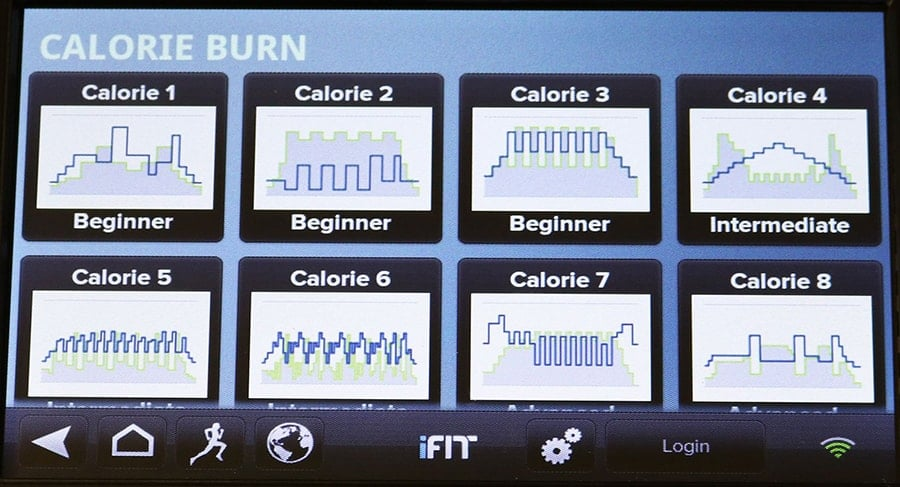 Calorie Burn App - 9 Different Runnings Programs Dashboard