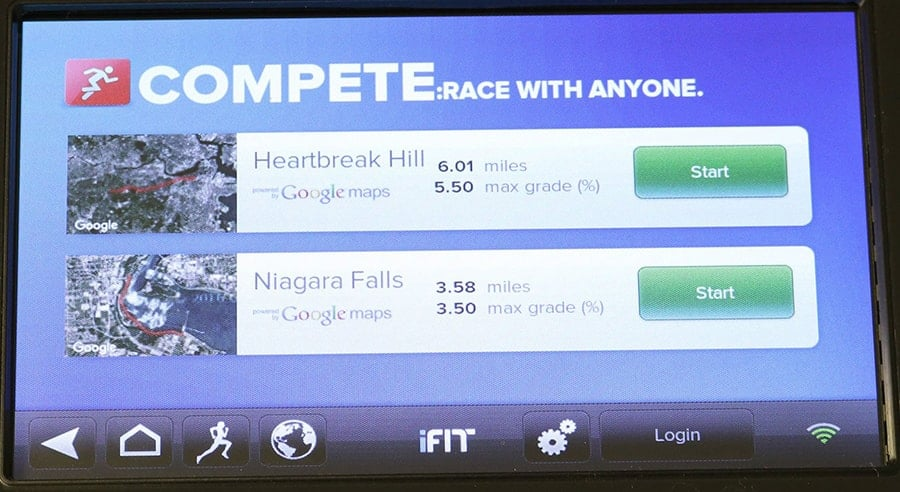 Compete: race against anyone with iFit-Compete