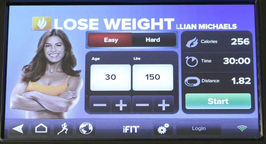 Lose Weight With Jillian Michaels on the iFit Lose Weight Program