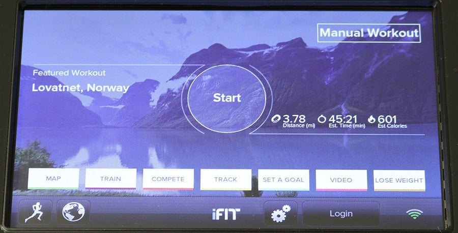 iFit Workout Of Day (WOD) Dashboard