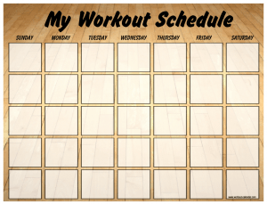 Schedule Workouts