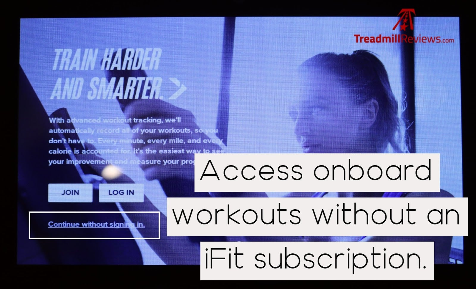 NordicTrack FS7i iFit and Onboard Workouts