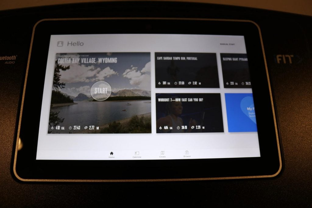 NordicTrack Commercial 1750 Home Screen