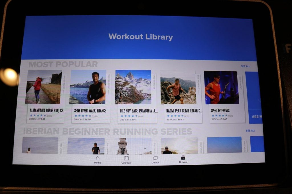 Commercial 1750 iFit Workout Library