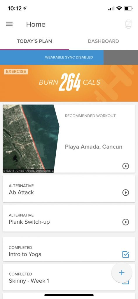 iFit Coach App User Interface