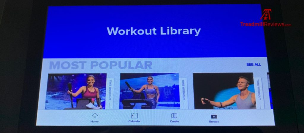 NordicTrack Freestride Trainer FS7i Workout Library