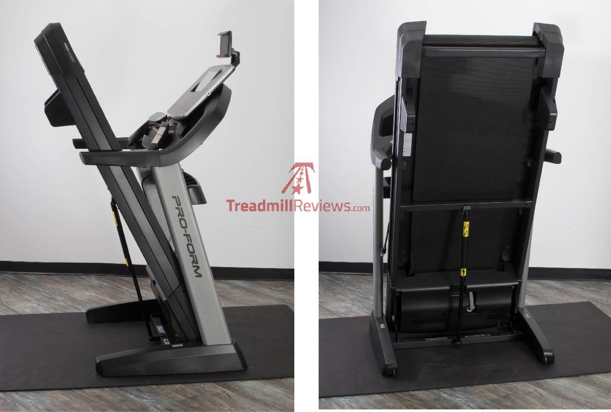 ProForm Pro 5000 Hydraulic Foot Release Folded Deck