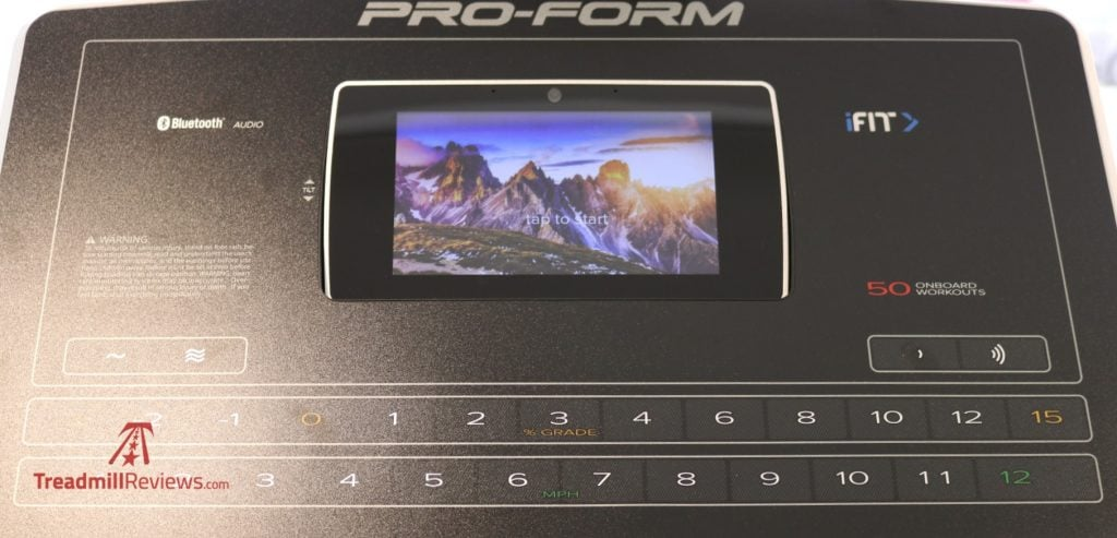 High-definition touchscreen display.
