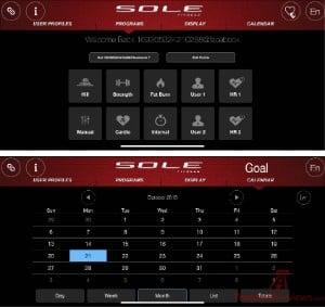 Sole F80 Treadmill Home Screen -2